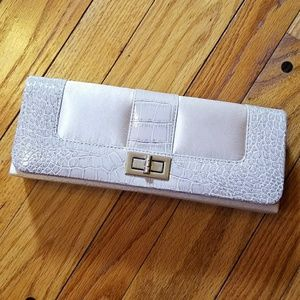 Handbags - Cream alligator print purse